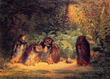 Owls William Holbrook Beard Oil Paintings