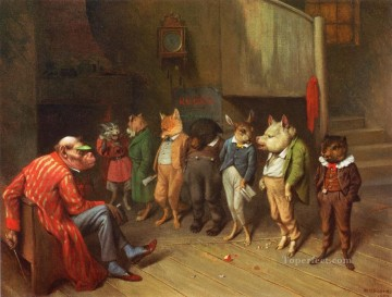School Rules William Holbrook Beard Oil Paintings