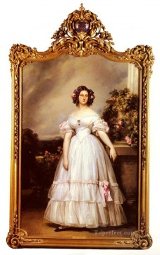 portrait Painting - A FullLength Portrait Of HRH royalty portrait Franz Xaver Winterhalter