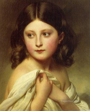 Franz Xaver Winterhalter Painting - A Young Girl called Princess Charlotte royalty portrait Franz Xaver Winterhalter