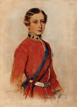Franz Xaver Winterhalter Painting - Albert Edward Prince of Wales 1859 royalty portrait Franz Xaver Winterhalter