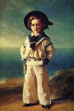 Franz Xaver Winterhalter Painting - Albert Edward Prince of Wales royalty portrait Franz Xaver Winterhalter
