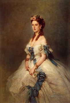 Franz Xaver Winterhalter Painting - Alexandra Princess of Wales royalty portrait Franz Xaver Winterhalter