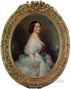 royalty Art Painting - Anna Dollfus Baronne de Bourgoing royalty portrait Franz Xaver Winterhalter