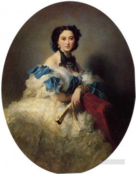 Countess Varvara Alekseyevna Musina Pushkina royalty portrait Franz Xaver Winterhalter Oil Paintings