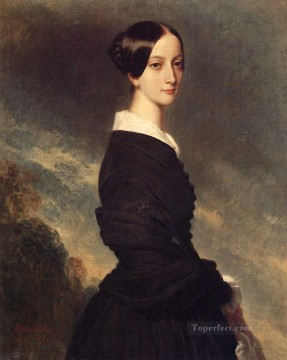 royalty Art Painting - Francoise Caroline Gonzague Princesse de Joinville 1844 royalty portrait Franz Xaver Winterhalter