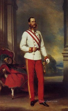 Franz Joseph I Emperor of Austria royalty portrait Franz Xaver Winterhalter Oil Paintings