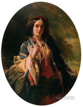 Katarzyna Branicka Countess Potocka royalty portrait Franz Xaver Winterhalter Oil Paintings