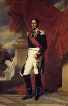 royalty Art Painting - Leopold I King of the Belgians royalty portrait Franz Xaver Winterhalter