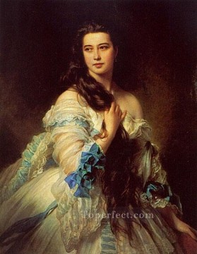 royalty Art Painting - Mme RimskyKorsakov royalty portrait Franz Xaver Winterhalter