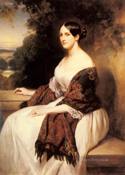 Franz Xaver Winterhalter Painting - Portrait Of Madame Ackerman royalty Franz Xaver Winterhalter