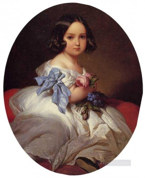 royalty Art Painting - Princess Charlotte of Belgium royalty portrait Franz Xaver Winterhalter