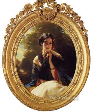 Princess Leonilla of Sayn Wittgenstein Sayn royalty portrait Franz Xaver Winterhalter Oil Paintings