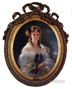 Franz Xaver Winterhalter Painting - Princess Sophie Troubetskoi Duchess de Morny royalty portrait Franz Xaver Winterhalter