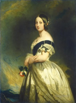 royalty Art Painting - Queen Victoria 1842 royalty portrait Franz Xaver Winterhalter