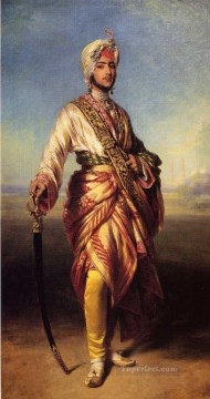 royalty Art Painting - The Maharajah Duleep Singh royalty portrait Franz Xaver Winterhalter