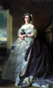 Franz Xaver Winterhalter Painting - woman royalty portrait Franz Xaver Winterhalter