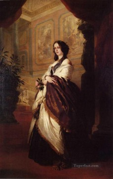 Franz Xaver Winterhalter Painting - Harriet Howard Duchess of Sutherland royalty portrait Franz Xaver Winterhalter
