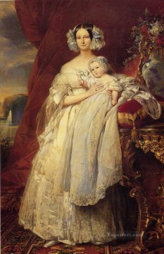 Helene Louise Elizabeth de Mecklembourg Schwerin royalty portrait Franz Xaver Winterhalter Oil Paintings