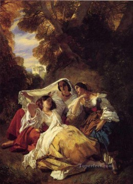 La Siesta Franz Xaver Winterhalter Oil Paintings