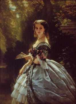 royalty Art Painting - Princess Elizabeth Esperovna Belosselsky Belosenky Princess Troubetskoi royalty portrait Franz Xaver Winterhalter
