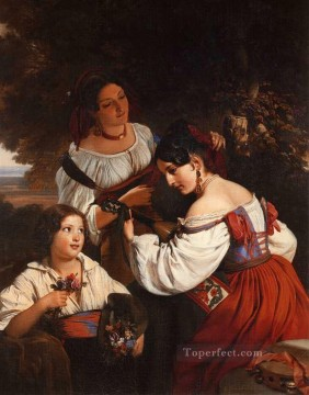Roman Genre Scene Franz Xaver Winterhalter Oil Paintings
