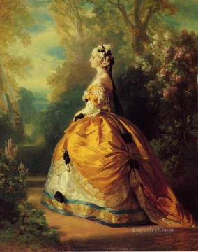 The Empress Eugenie a la Marie Antoinette royalty portrait Franz Xaver Winterhalter Oil Paintings