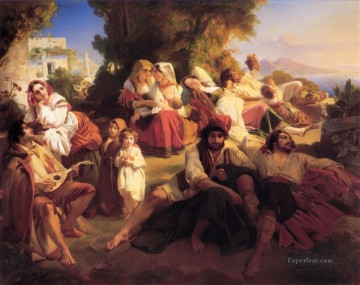Il Dolce far niente Franz Xaver Winterhalter Oil Paintings