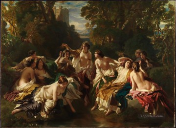 Florinda Franz Xaver Winterhalter Oil Paintings