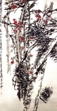 cangshuo Painting - Wu cangshuo pine and plum blossom old China ink