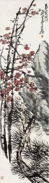 cangshuo Painting - Wu cangshuo plum in winter old China ink