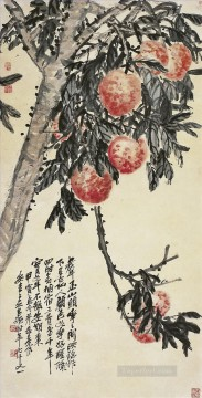 cangshuo Painting - Wu cangshuo peach tree old China ink