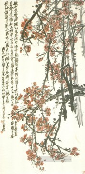 cangshuo Painting - Wu cangshuo plum old China ink