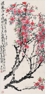 cangshuo Painting - Wu cangshuo peachblossom old China ink