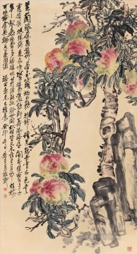 cangshuo Painting - Wu cangshuo peaches old China ink