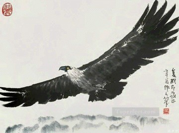Wu zuoren an eagle old China ink Oil Paintings