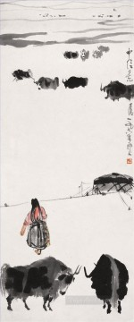 Wu zuoren yaks old China ink Oil Paintings