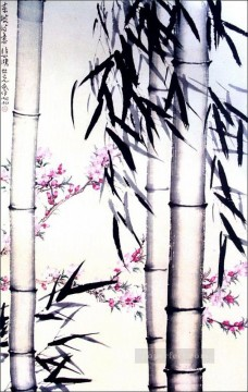 Xu Beihong Ju Peon Painting - Xu Beihong bamboo and flowers old China ink