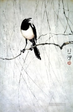 Xu Beihong Ju Peon Painting - Xu Beihong bird old China ink