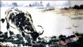 Xu Beihong corydon and cattle old China ink