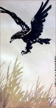 Xu Beihong Ju Peon Painting - Xu Beihong flying eagle old China ink