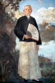 a portrait of lim loh Xu Beihong in oil