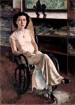 Xu Beihong Ju Peon Painting - a portrait of miss jenny 1939 Xu Beihong in oil
