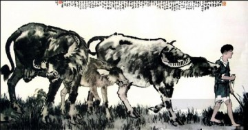 Xu Beihong Endymion old China ink Oil Paintings