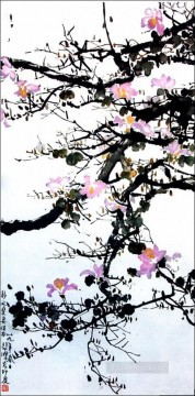 Xu Beihong Ju Peon Painting - Xu Beihong floral branches old China ink