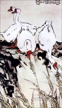 Xu Beihong geese old China ink Oil Paintings