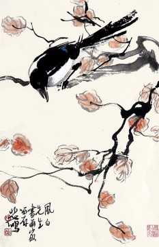 Xu Beihong Ju Peon Painting - Xu Beihong pie on branch old China ink