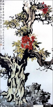 Xu Beihong Ju Peon Painting - Xu Beihong tree old China ink