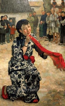 Xu Beihong Ju Peon Painting - put down your whip Xu Beihong in oil