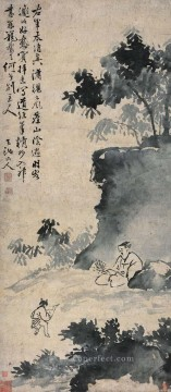 Xu Wei Painting - wang xizhi catching the goose old China ink